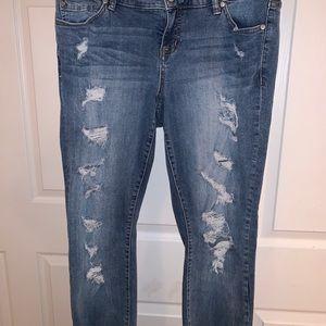 Torrid Distressed Frayed Edges Boyfriend Jeans 10